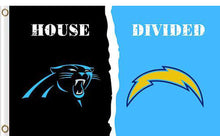 Load image into Gallery viewer, Carolina Panthers vs San Diego Chargers Divided Flag