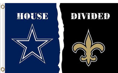 Dallas Cowboys vs New Orleans Saints Divided Flag