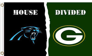 Carolina Panthers vs Green Bay Packers Divided Flag