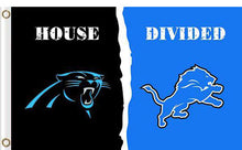 Load image into Gallery viewer, Carolina Panthers vs Detroit Lions Divided Flag