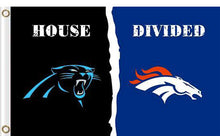 Load image into Gallery viewer, Carolina Panthers vs Denver Broncos Divided Flag