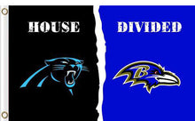 Load image into Gallery viewer, Carolina Panthers vs Baltimore Ravens Divided Flag
