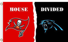 Load image into Gallery viewer, Carolina Panthers vs Tampa Bay Buccaneers Divided Flag