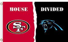 Load image into Gallery viewer, Carolina Panthers vs San Francisco 49ers 2 Divided Flag