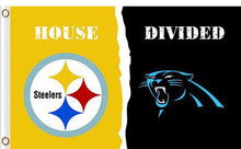 Load image into Gallery viewer, Carolina Panthers vs Pittsburgh Steelers Divided Flag