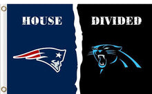 Load image into Gallery viewer, Carolina Panthers vs New England Patriots Divided Flag