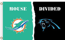 Load image into Gallery viewer, Carolina Panthers vs Miami Dolphins Divided Flag