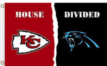 Load image into Gallery viewer, Carolina Panthers vs Kansas City Cheifs Divided Flag