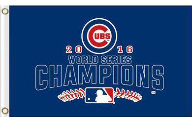 Chicago Cubs 2016 World Series Champions W Flag 3ft x 5ft