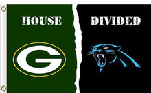 Load image into Gallery viewer, Carolina Panthers vs Green Bay Packers Divided Flag