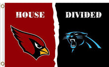 Load image into Gallery viewer, Carolina Panthers vs Arizona Cardinals Divided Flag