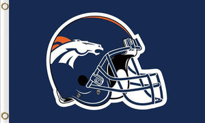 Denver Broncos Football Team Logo Flags 3ftx5ft