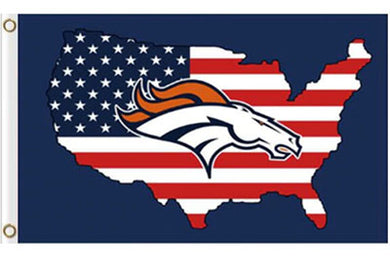 Denver Broncos American Banner Flag 3x5ft