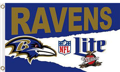 Baltimore Ravens Lite flag 3x5ft