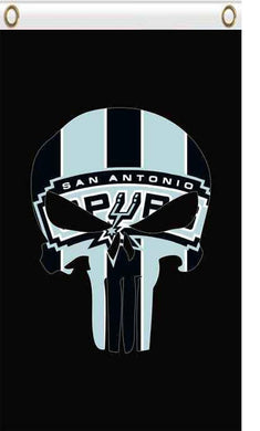 San Antonio Spurs skull flags 90x150cm