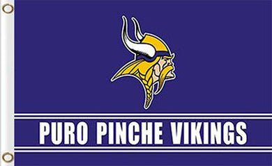 Minnesota Viking Puro Pinche Flag 3ftx5ft