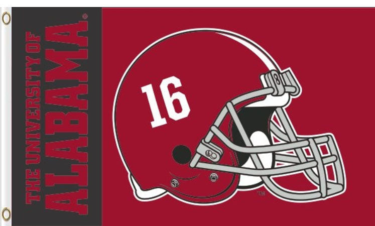 Alabama Crimson Helmet Flag 3x5ft