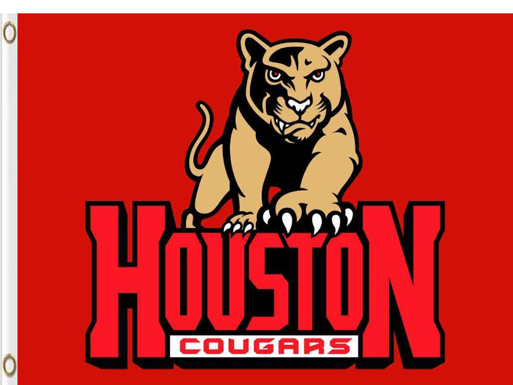 Houston Cougars Hand Flags Banners 3*5ft