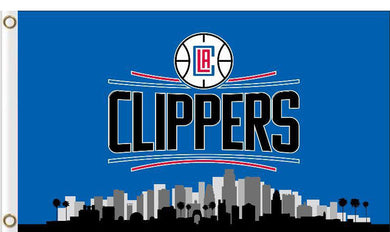 Los Angeles clippers skyline flag 90x150cm