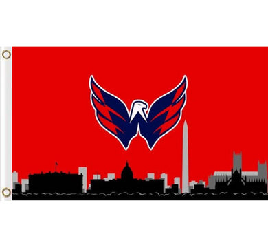 Washington Capitals skyline 3ftx5ft