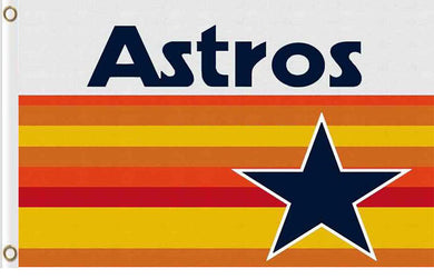 Houston Astros logo with start Flag 3ft x 5ft