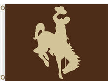 Load image into Gallery viewer, Wyoming Cowboys flag Digital Printing 3x5FT