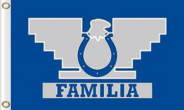 3x5ft Indianapolis Colts Familia Flags