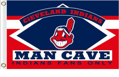 Cleveland Indians Man Cave flags 3ftx5ft