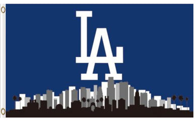 Los Angeles Dodgers Skyline Banner flags 3ftx5ft