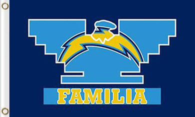 San Diego Chargers Familia Flag 3ftx5ft