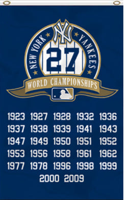 New York Yankees 27-Time World Champions Banner flags 3x5ft