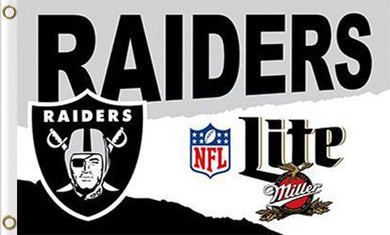 Oakland Raiders Lite Flag 3ft x 5ft