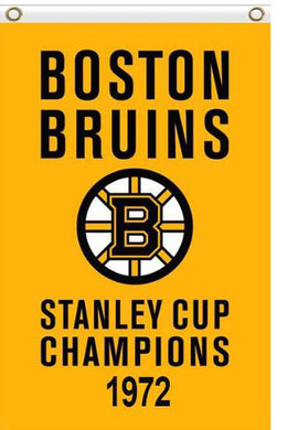 Boston Bruins stanley cup champions 1972 Flag 3x5 FT