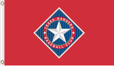 Texas Rangers Red Baseball Banner Flag 3x5ft