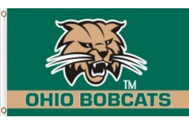 Ohio Bobcats University head logo Banner Flag 3x5FT