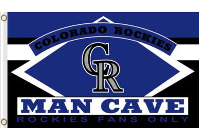Colorado Rockies Man Cave flags 3ftx5ft