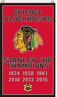 Chicago Blackhawks champions all styles flags 90x150cm