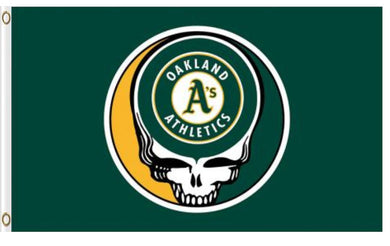 Oakland Athletics Dead Skull Banner flag 3ftx5ft