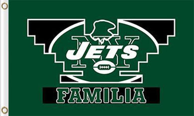 New York Jets Familia Flags 3ftx5ft