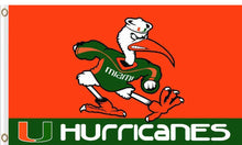Load image into Gallery viewer, Miami Hurricanes Ibis University Flag 3*5ft