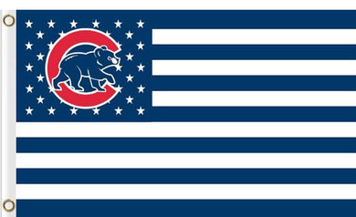 Chicago Cubs Flag with Star and Stripe 3FTx5FT