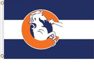 Denver Broncos Logo Flag Banner 3x5ft