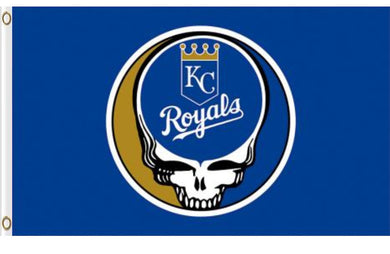 Kansas City Royals Dead Skull Banner flags 3ftx5ft