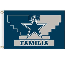 Load image into Gallery viewer, Dallas Cowboys familia flag 90x150cm with 2 Metal Grommets