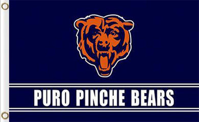 Chicago Bears Banners Puro Pinche Flags 3ftx5ft