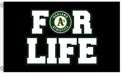 Oakland Athletics For Life Banner flag 3ftx5ft