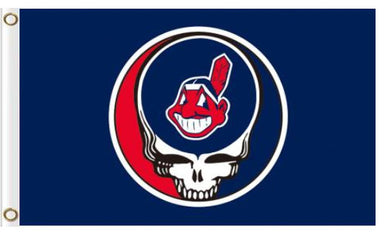 Cleveland Indians Dead Skull Blue flags 3ftx5ft
