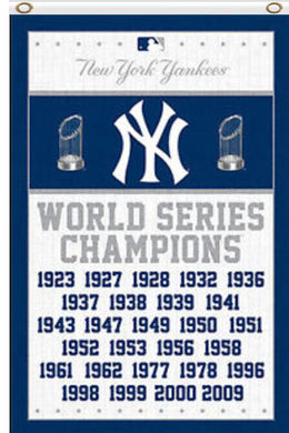 New York Yankees 27-Time World Championship Banner flags 3x5ft