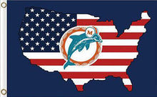 Load image into Gallery viewer, Miami Dolphins USA Flag 3FTx5FT