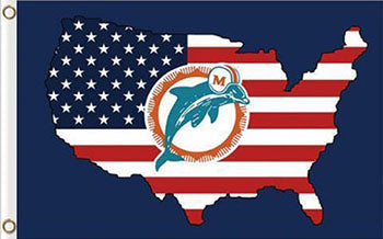 Miami Dolphins USA Flag 3FTx5FT